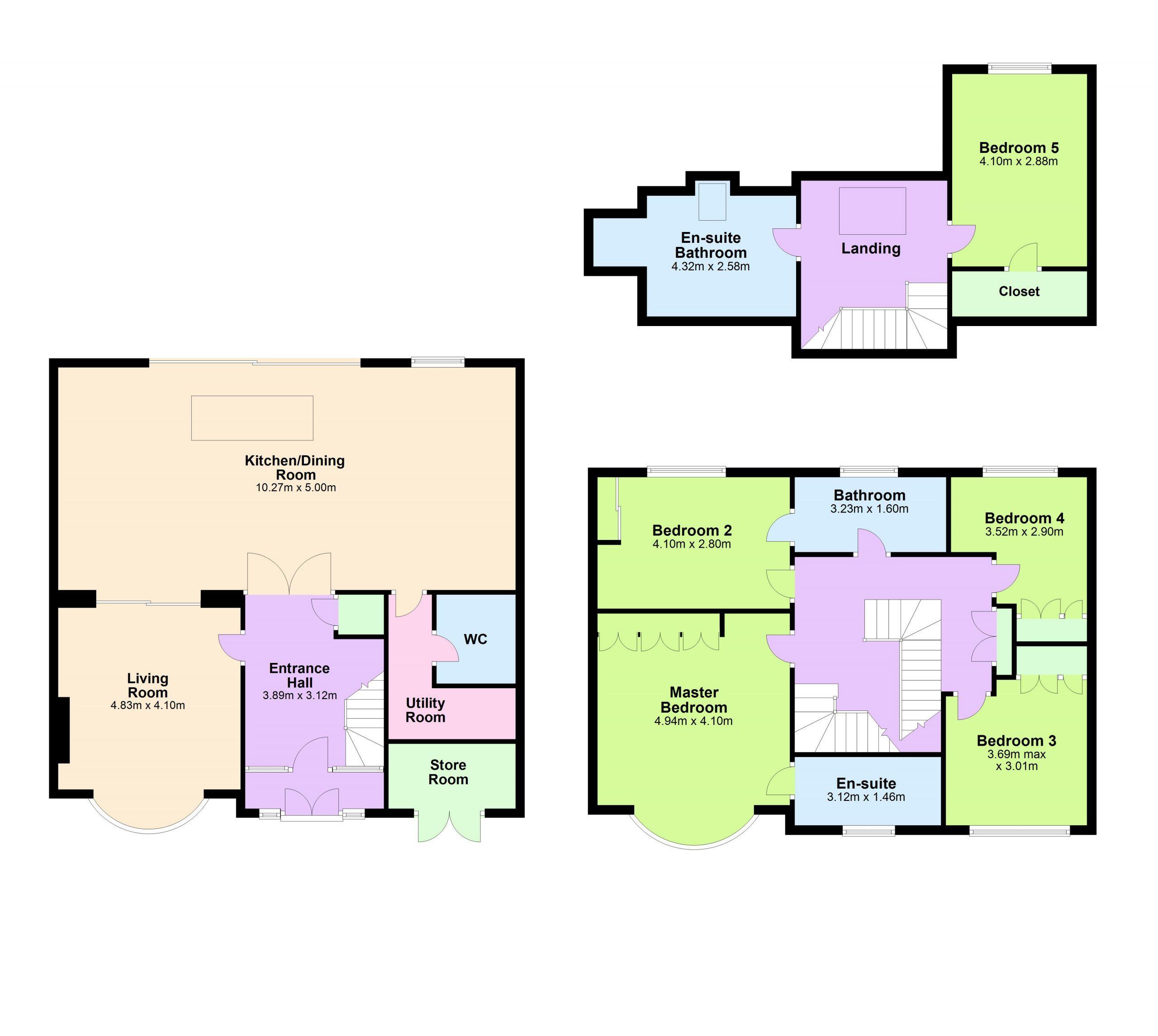 Combined floorplan